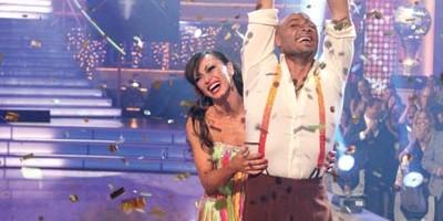 J.R.  winning Dancing With the Stars with partner Karina Smirnoff
