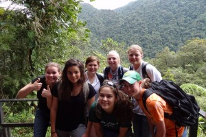 Hiking in the rainforest