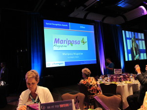 Mariposa Magazine highlighted during awards dinner